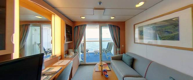 Aurora cabins luxury suites aboard this ship sovereign for Deluxe balcony