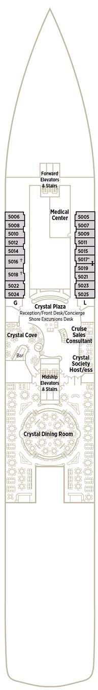 Crystal Symphony - Deck Deck 5