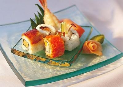 Sushi aboard the ship