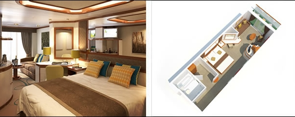 Azura Cabins Luxury Suites Aboard This Ship Sovereign