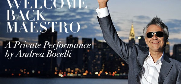 Silversea Welcomes Back Tenor Andrea Bocelli