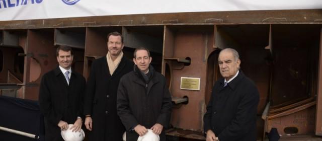 Ritz-Carlton Celebrates Keel Laying for First Ship