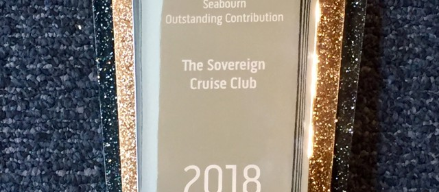 Sovereign Wins Top Seabourn Award for the 12th time!