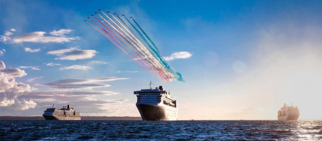 Cunard Ships Reunite with Red Arrows