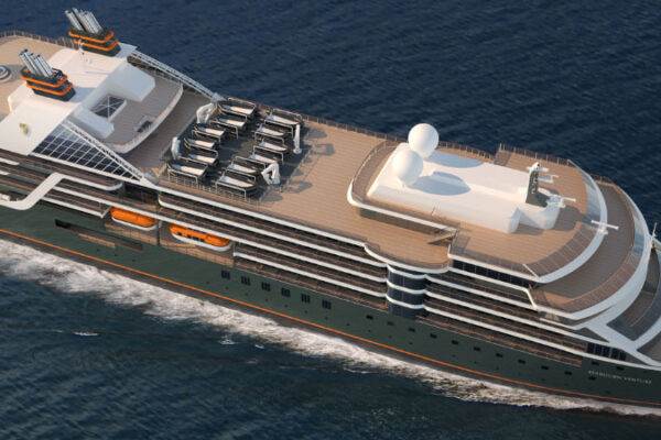 Sovereign Blog - Seabourn Venture moves to Genoa for Final Outfitting.